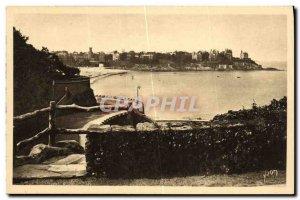 Old Postcard Cote D Emeraude Dinard Pointe de la Malouine