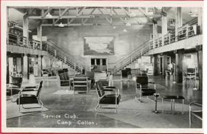 CA - La Jolla. Camp Callan, Service Club Interior     *RPPC