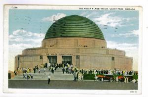 Chicago, Illinois to Wichita, Kansas 1932 used Postcard, Adler Planetarium