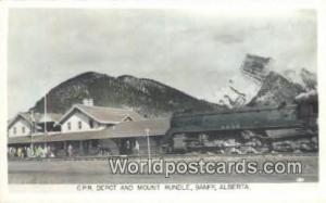 Canada Banff, Alberta CPR Depot & Mt Rundle