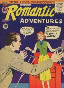 Romantic Adventures 1950s Comic Book Disabled Handicapped Postcard