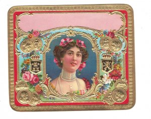 HI1050 INNER CIGARBOX LABEL FAMOUS THEATRE STAR OTERO EMBOSSED LITHO