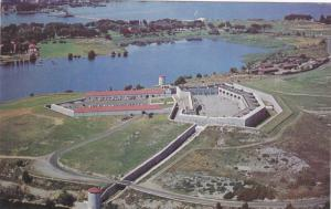 Air view of Old Fort Henry,  Kingston,  Ontario,  Canada,  40-60s