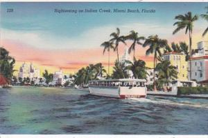 Florida Miami Beach Sightseeing Boat On Indian Creek