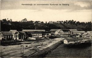 INDONESIA PC DUTCH INDIES - Handelswijk en voornaamste Kantoren te Sabang (a1635