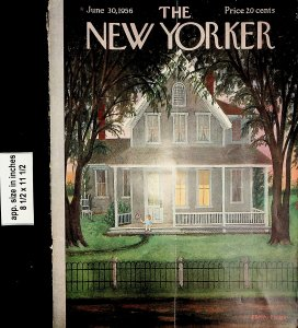 1956 The New Yorker Magazine Cover 1956 June 30 Vintage Print 6908
