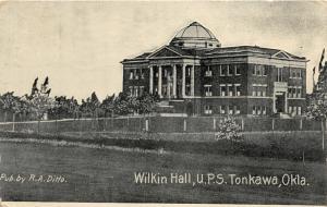 F19/ Tonkawa Oklahoma Postcard 1956 Wilkin Hall U.P.S.