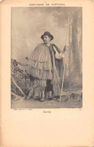 Portugal Carrica Man in National Costume Antique Postcard J64630