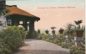 OAKLAND, California, 1915; Entrance to a Home