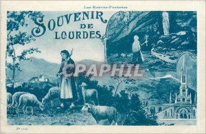 Old Postcard The High Pyrenees Memory of Lourdes