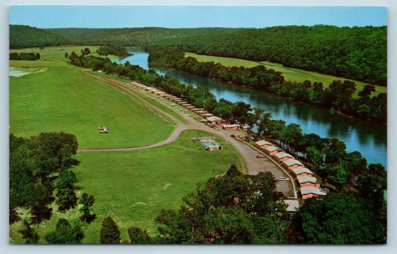 Postcard AR Lakeview Al Gaston's White River Resort Airview Cabins N12