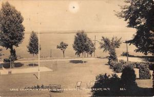 Port Kent New York Pine Grove Hotel Lake Champlain Real Photo Postcard K94384
