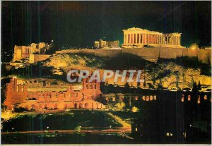 Postcard Modern Athens Acropolis of enlightened