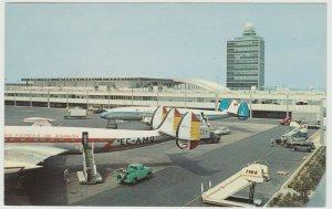 Spain AEREAS DE ESPANA airlines AT NYC New York International Airport Postcard