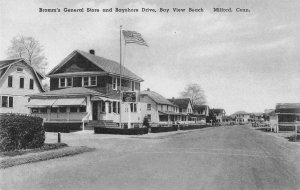 Milford Connecticut Bromm's General Store in Bay View Beach antique pc ZE686196
