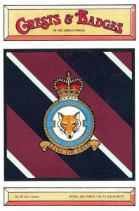 Postcard RAF Royal Air Force No.12 Squadron Crest Badge No.28 NEW