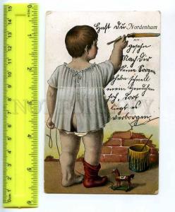 241884 GERMANY NORDENHAM painter Old postcard w/ 10 views