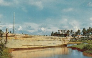 GUAM , 1940s ; Barge ashore at Inarajan