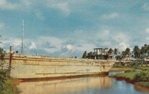 GUAM , 1940s ; Barge ashore at Inarajan