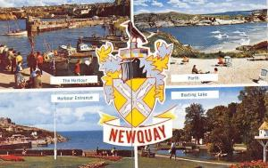 England Newquay Coat of Arms, Harbour Port, Entrance, Boating Lake, Boats