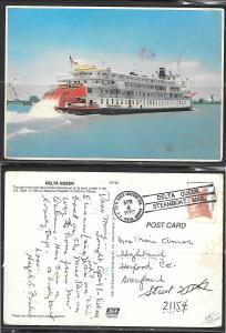 1983 Delta Queen sternwheeler, mailed special cancel