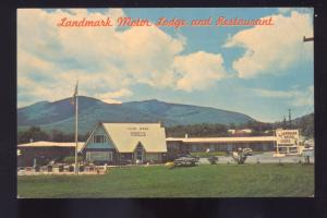 WILMINGTON NEW YORK LANDMARK MOTOR LODGE RESTAURANT ADVERTISING POSTCARD