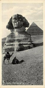 Vintage Egypt Postcard, Cairo, The Great Sphinx, Panoramic Bookmark Style BF5