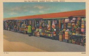 TIJUANA , B.C. , Mexico , 1930-40s ; The Mercado ( Market Place )