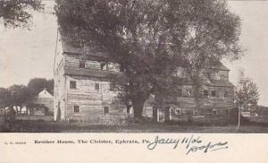 Pennsylvania Ephrata Brother House The Cloister 1906