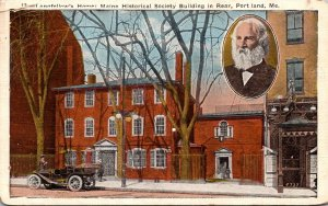 Maine Portland Longfellow's Home Maine Historical Society Building In Re...