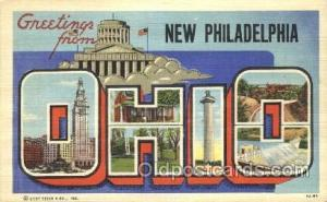 New Philadelphia, Ohio, Usa Large Letter Town, Towns, Postcard Postcards  New...