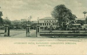 british guiana, GEORGETOWN DEMERARA, Main Street, Government House (1899)