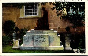 Louisiana St Martinville Evangeline Statue 1947
