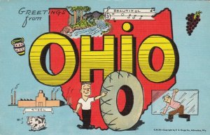 Large Letter Greetings , Ohio , 30-40s