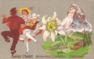 Illinois Chicago Swiss Chalet Restaurant Bismarck Hotel 1951