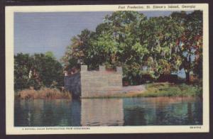Fort Frederica St Simon's Island GA Postcard 4501