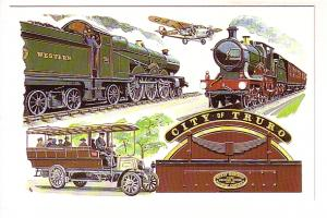 Great Western Railway, Two Views of Trains, Airplane, Bus, City of Truro