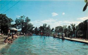 Mauston Wisconsin~Woodside Ranch~Fresh Water Swimming Pool~1955 Postcard