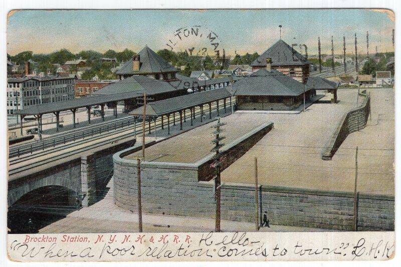 Brockton Station, N. Y. N. H. & H. R. R.