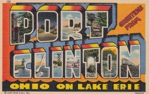 Large Letter PORT CLINTON, Ohio 30-40s