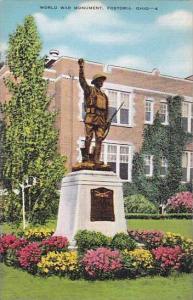 Ohio Fostoria World War Monment Albertype