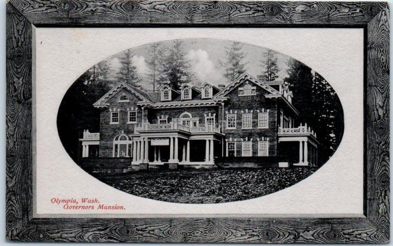 Olympia, Washington Postcard Governors Mansion House View PNC GLOSSO c1910s