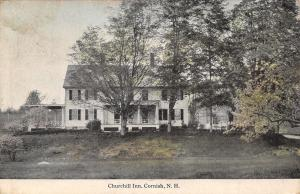 Cornish New Hampshire~Churchill Inn Hotel in Trees~1913 Postcard