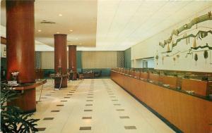Fort Lauderdale Florida~Broward National Bank Lobby~Teller Windows~1960s
