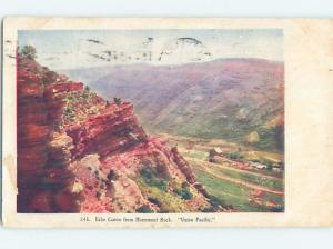 Pre-1907 ECHO CANYON FROM MONUMENT ROCK Zion National Park - St. George UT A1550