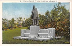 Thomas Redfield Proctor Monument Utica NY Unused