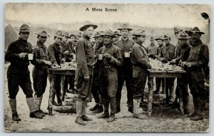 Chattanooga TN~Photographer Stratton~Eating Standing At Table~Military Mess~1914