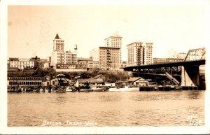 Washington Tacoma Skyline View 1946 Real Photo