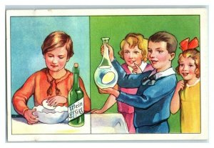 Egg in the Bottle, Funny Experiments, Echte Wagner German Trade Card *VT31S