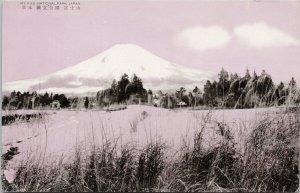 Mt Fuji National Park Japan Pink Unused Postcard G70